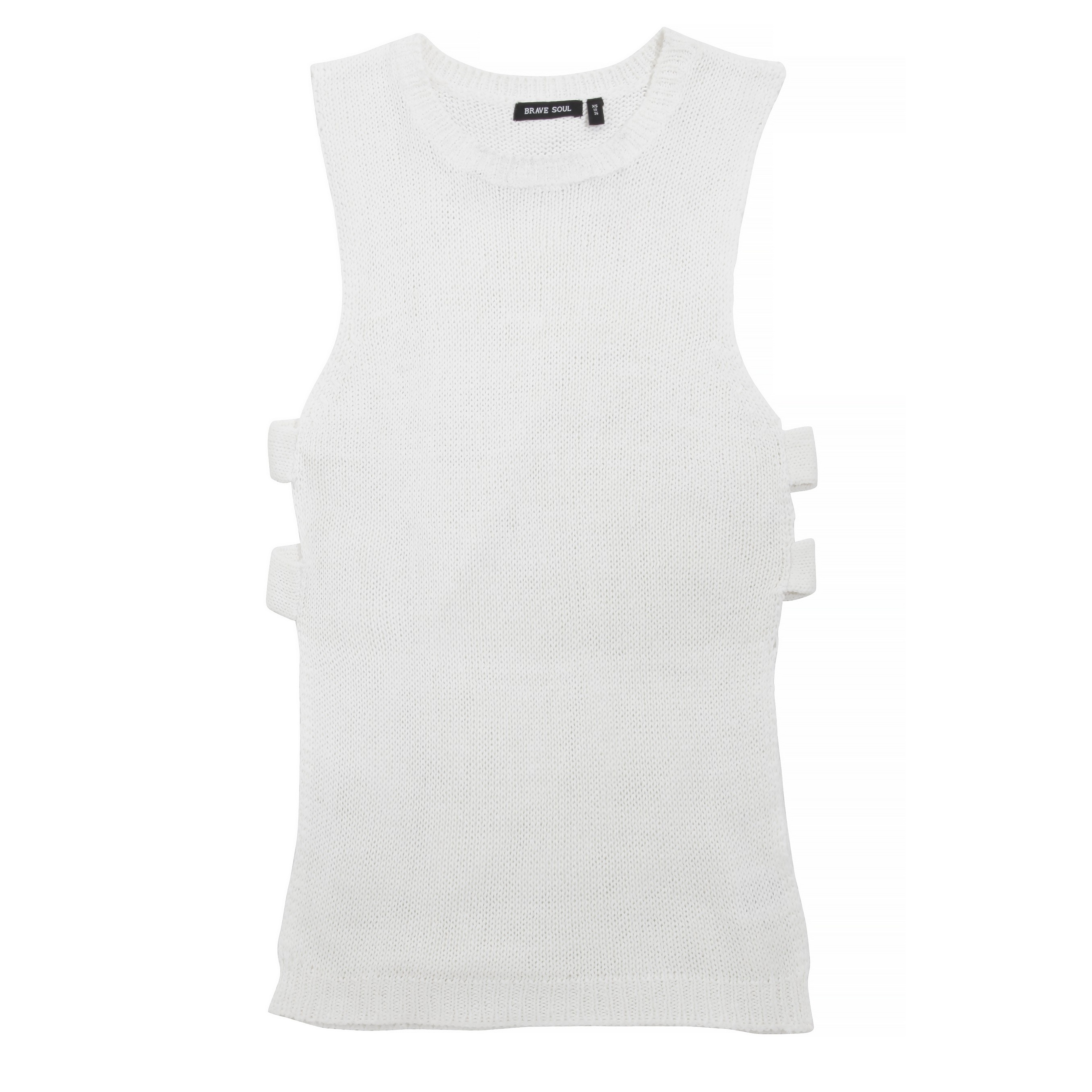 Brave-Soul-Womens-Ladies-Kristy-Sleeveless-Cut-Out-Jumper