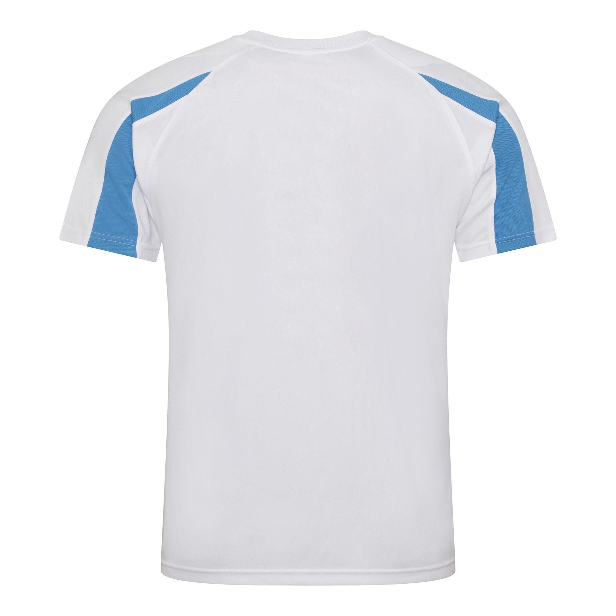 Just cool mens contrast cool sports plain t shirt ebay for Mens sport t shirts