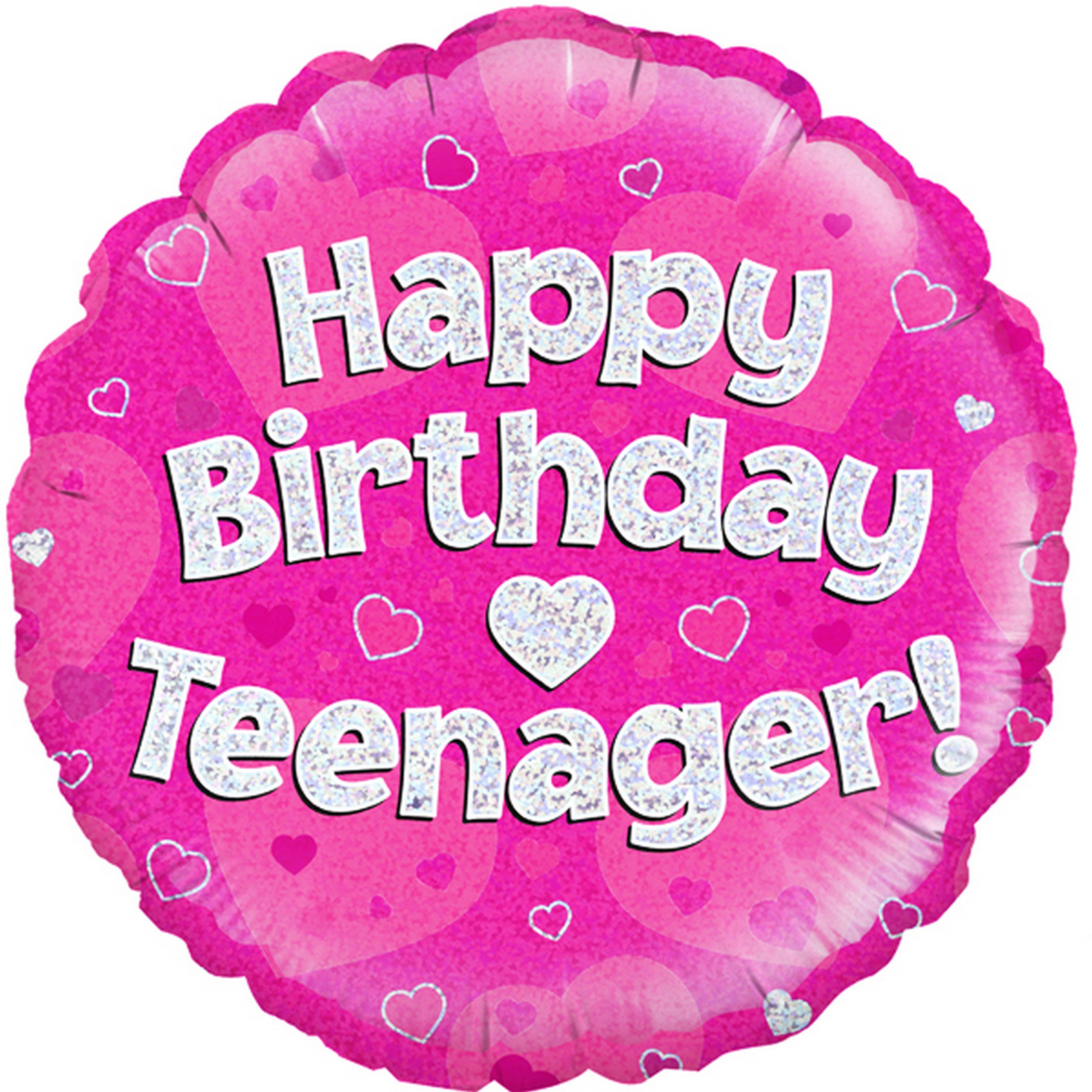 Oaktree 18 Inch Circle Happy Birthday Teenager Foil