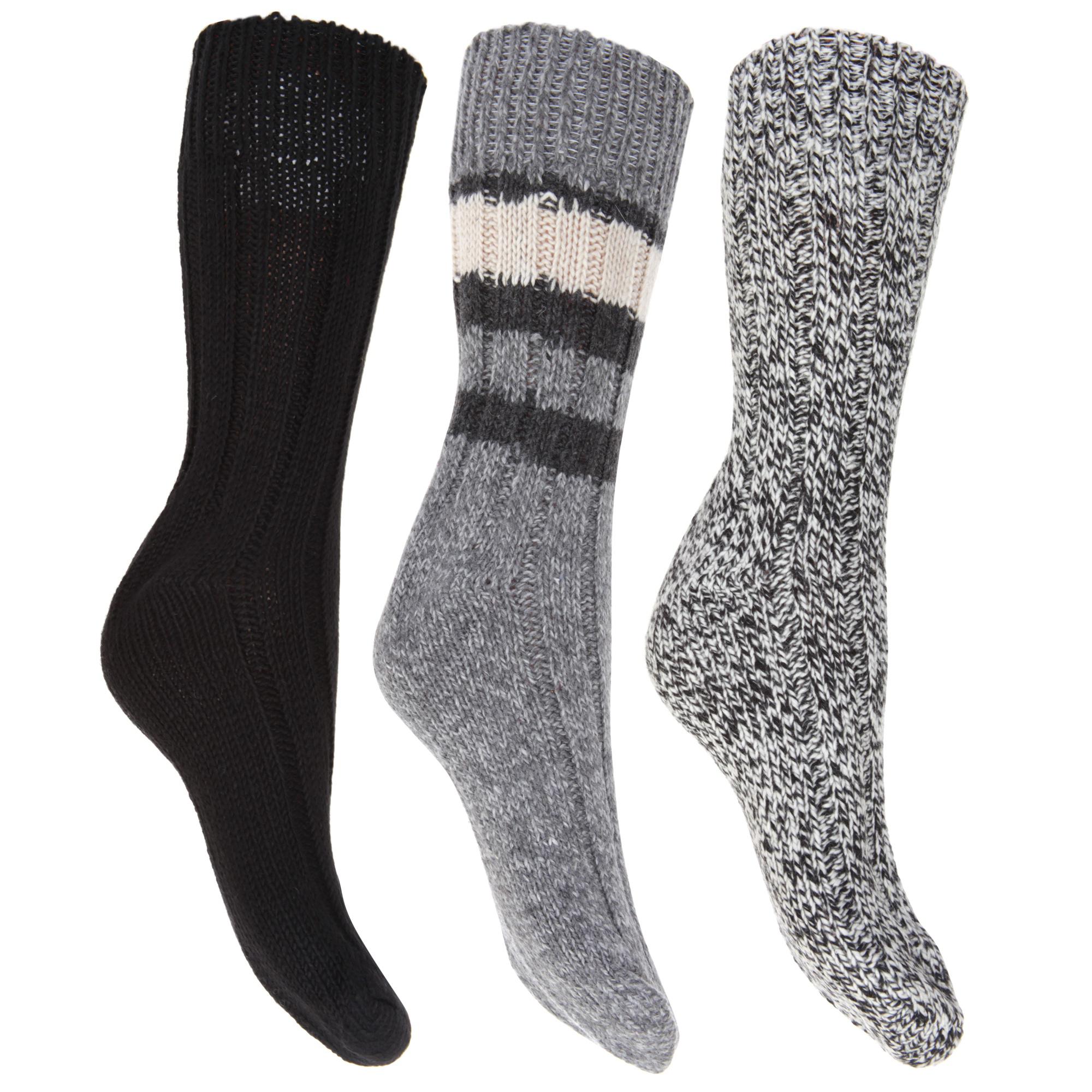 Señoras para mujer Grueso Térmico FLOSO grueso de lana/Calcetines combinada (3 Pack)